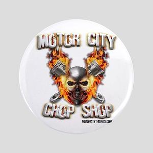"Motor City Chopper Shop 3.5"" Button"