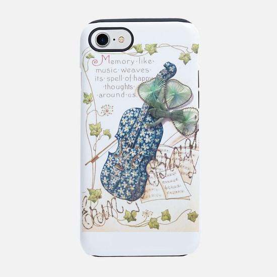 Erin go Bragh Flower Fiddle iPhone 8/7 Tough Case