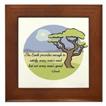 Ghandi Earth quote Framed Tile