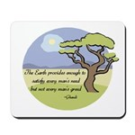 Ghandi Earth quote Mousepad