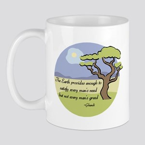 Ghandi Earth quote Mug