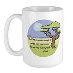 Ghandi Earth quote Large Mug