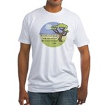 Ghandi Earth quote Fitted T-Shirt