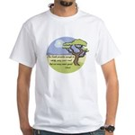Ghandi Earth quote White T-Shirt