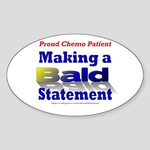Bald Statement Oval Sticker