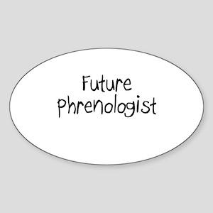 Future Phrenologist Oval Sticker