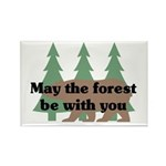 May the Forest be with you Rectangle Magnet (100 p