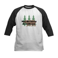 May the Forest be with you Kids Baseball Jersey