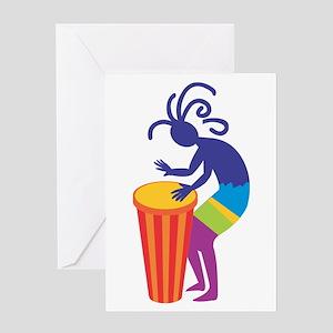 Kokopelli Drum Greeting Card