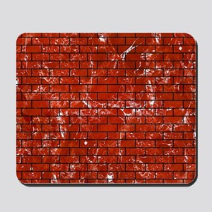 BRICK1 BLACK MARBLE & RED MARBLE (R) Mousepad