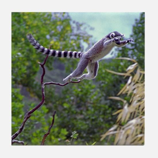 Leaping Lemur Tile Coaster