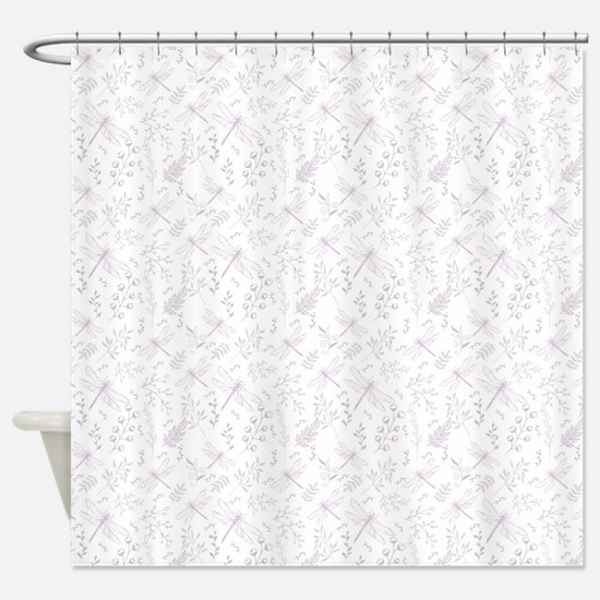Interesting Dragon Fly Shower Curtain. Soft Purple dragonfly floral Shower Curtain Floral Dragonfly Curtains  CafePress