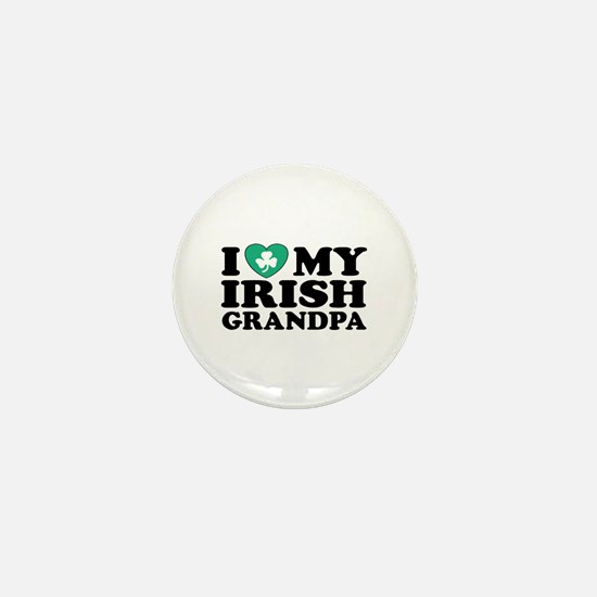 I Love My Irish Grandpa Mini Button