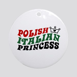 Polish Italian Princess Ornament (Round)