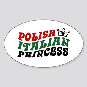 Polish Italian Princess Oval Sticker