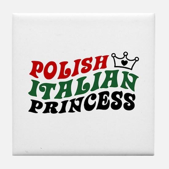 Polish Italian Princess Tile Coaster