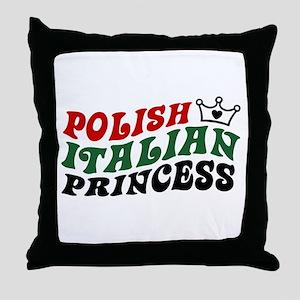 Polish Italian Princess Throw Pillow