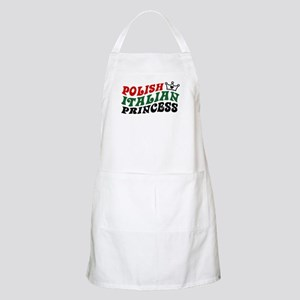 Polish Italian Princess BBQ Apron
