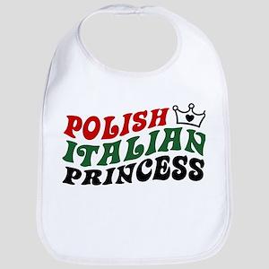 Polish Italian Princess Bib