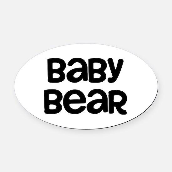 Baby Bear Oval Car Magnet