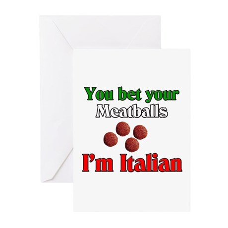 You Bet Your Meatballs Greeting Cards (Pk of 20)