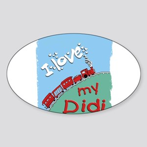Train-Didi Oval Sticker