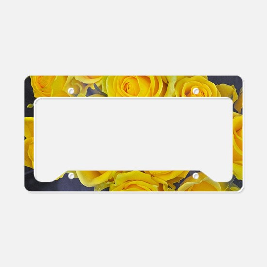 Cute Yellow rose License Plate Holder