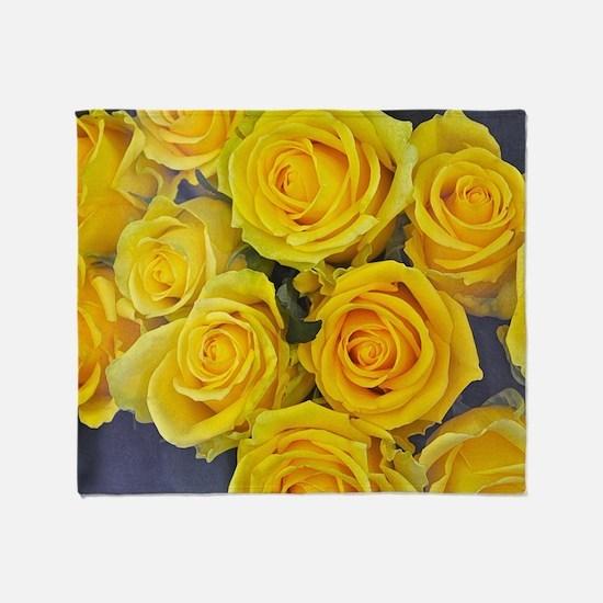 Cute Rose flower Throw Blanket