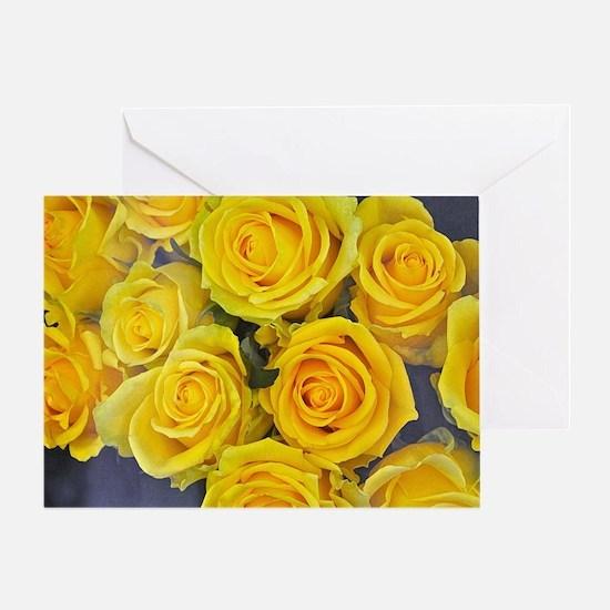 Unique Yellow camaro Greeting Card