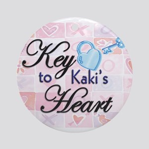 Key to Heart - Kaki Ornament (Round)