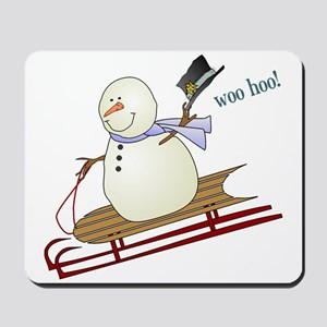 Woo Hoo Winter Fun Mousepad
