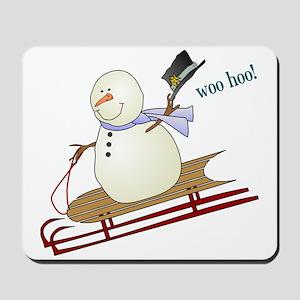 Woo Hoo Winter Fun Mousepad