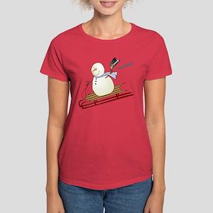 Woo Hoo Winter Fun Women's Dark T-Shirt