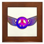 Peace Wing Groovy Framed Tile