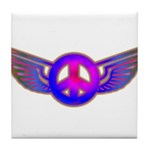 Peace Wing Groovy Tile Coaster