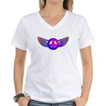 Peace Wing Groovy Women's V-Neck T-Shirt