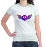 Peace Wing Groovy Jr. Ringer T-Shirt