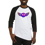 Peace Wing Groovy Baseball Jersey