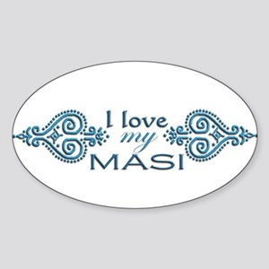Blue Mendhi - Masi Oval Sticker