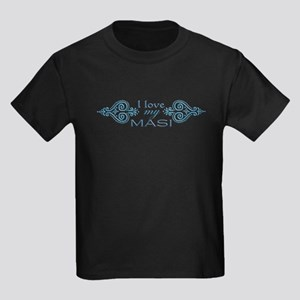 Blue Mendhi - Masi Kids Dark T-Shirt