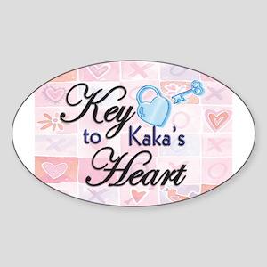 Key to Heart - Kaka Oval Sticker