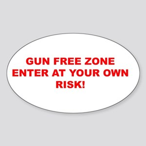 Say No To Gun Free Zones Oval Sticker