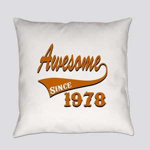 Awesome Since 1978 Birthday Design Everyday Pillow