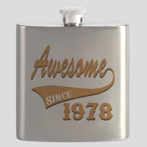 Awesome Since 1978 Birthday Designs Flask