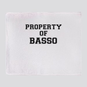 Property of BASSO Throw Blanket