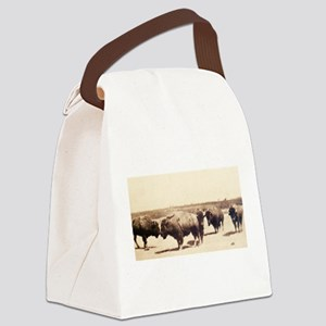 Dusty Bison Transfer Print Canvas Lunch Bag