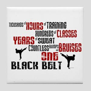 ONE Black Belt 2 Tile Coaster