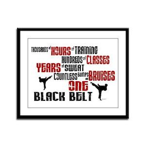 ONE Black Belt 2 Framed Panel Print