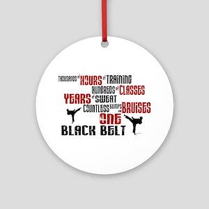 ONE Black Belt 2 Ornament (Round)