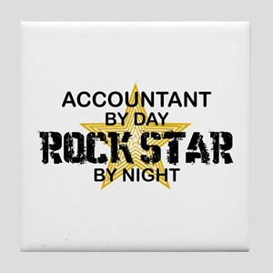 Accountant RockStar Tile Coaster